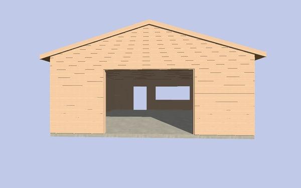 shed garage 3d model