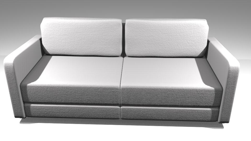 simple sofa materials 3ds