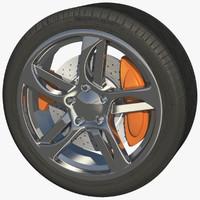 sport wheel rim 3d model