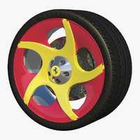 c4d sport wheel rim