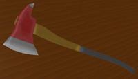 3d model fireman axe