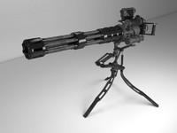 3ds max minigun m134 tripod