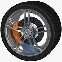 auto rim wheel 3d obj