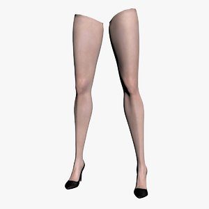 woman legs rigged 3d max