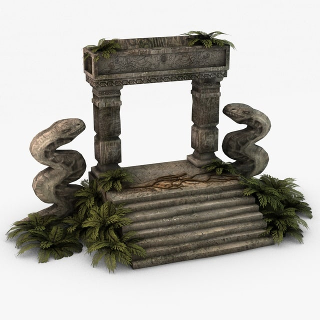 3d ancient stone entrance