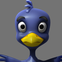 cartoon crow 3d model