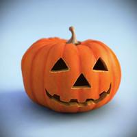 halloween pumpkin 3d max