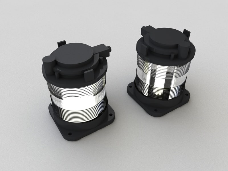 3d model single masthead light