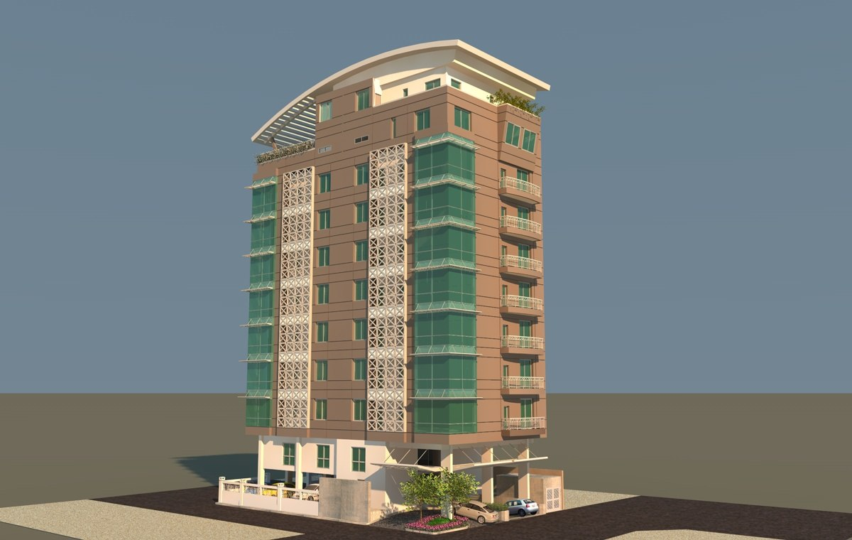 apartment building c4d