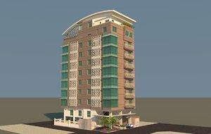 apartment building c4d