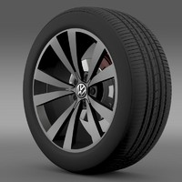 3d model beetle 2012 wheel