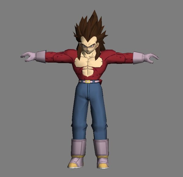 3d model vegeta super saiyan 4