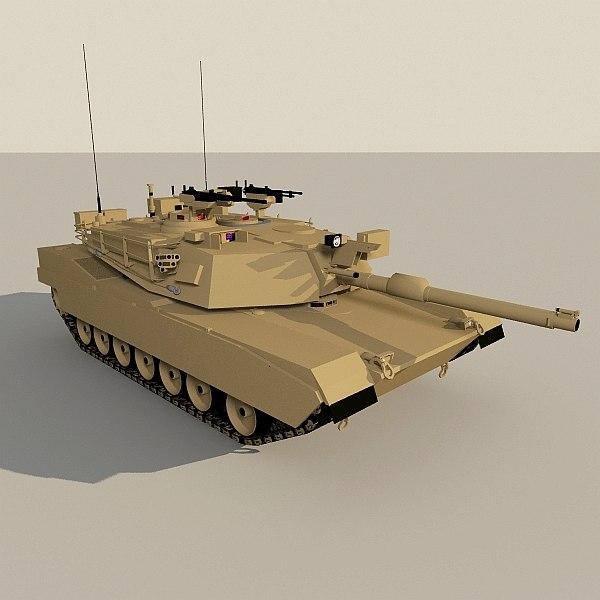 abrams low-poly tank 3d model