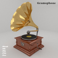 gramophone master voice 3d model