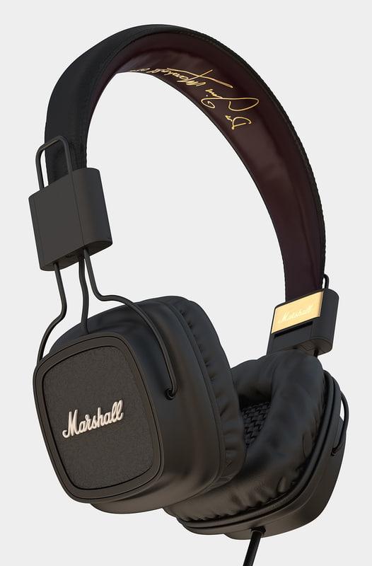 3d marshall headphones