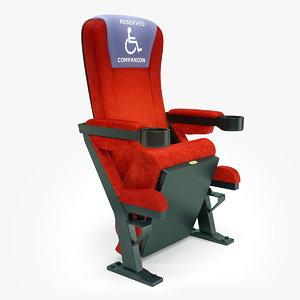 3dsmax realistic seat cinemas