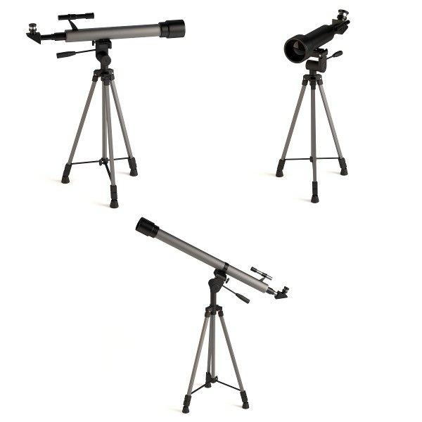 tripods telescopes 3d model