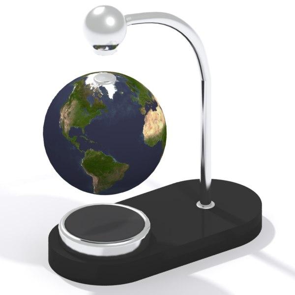 3d model levitating globe