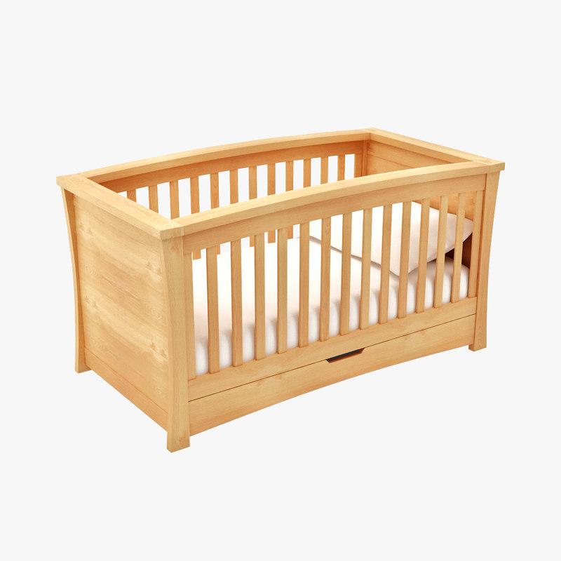 3d model baby cot