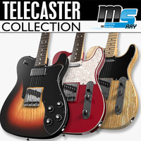 3d model of fender telecasters guitars