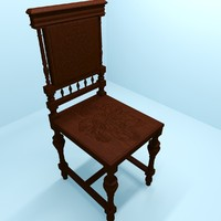 old chair 3d max