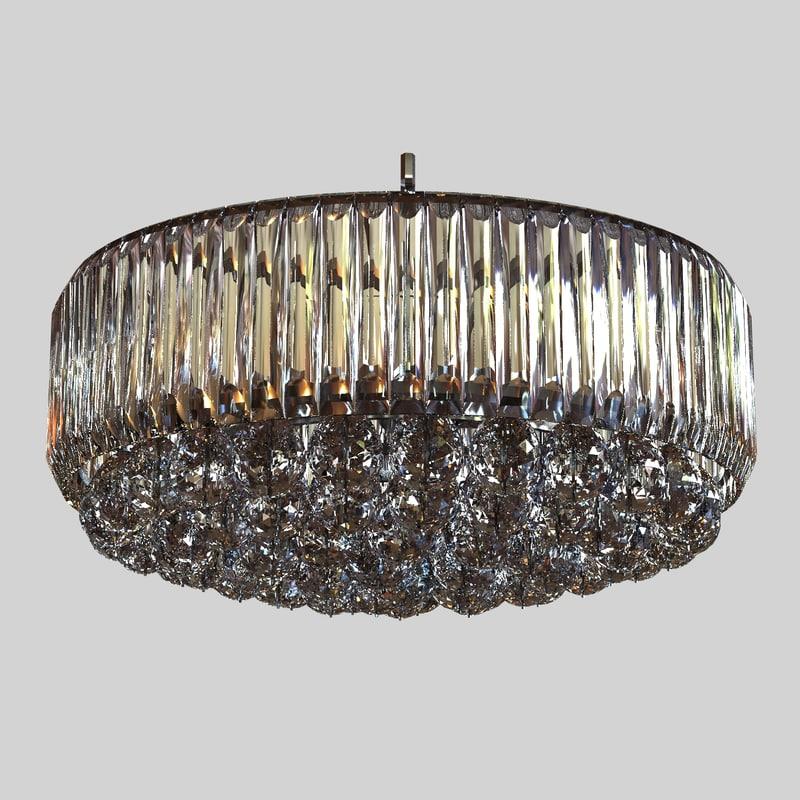 3d chandelier glass model