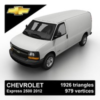 3d model of 2012 chevrolet express 2500
