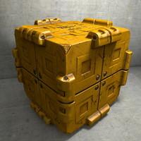 c4d metal cargo container