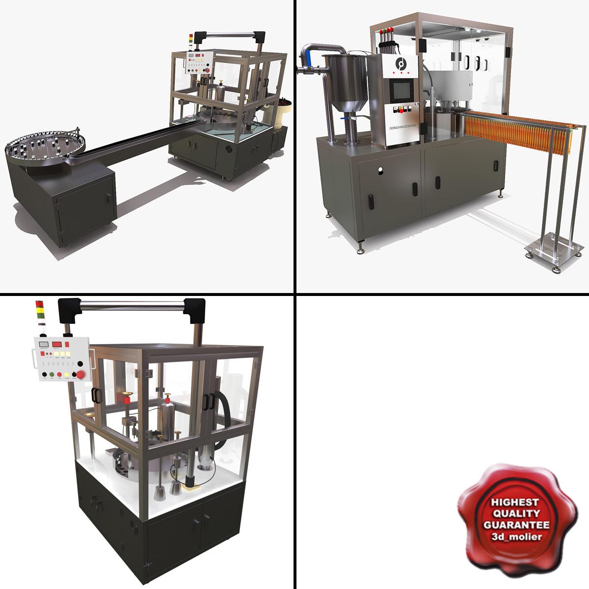 factory machine lines 3d 3ds