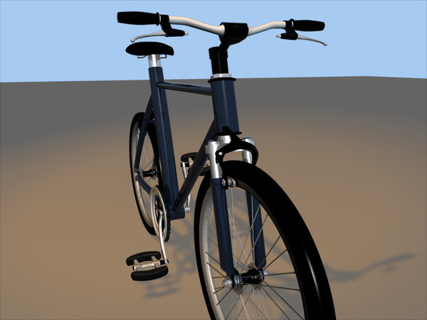 3d mountain bicycle model