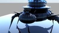 robot glass legs obj free