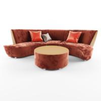 3d model bilbao sofa
