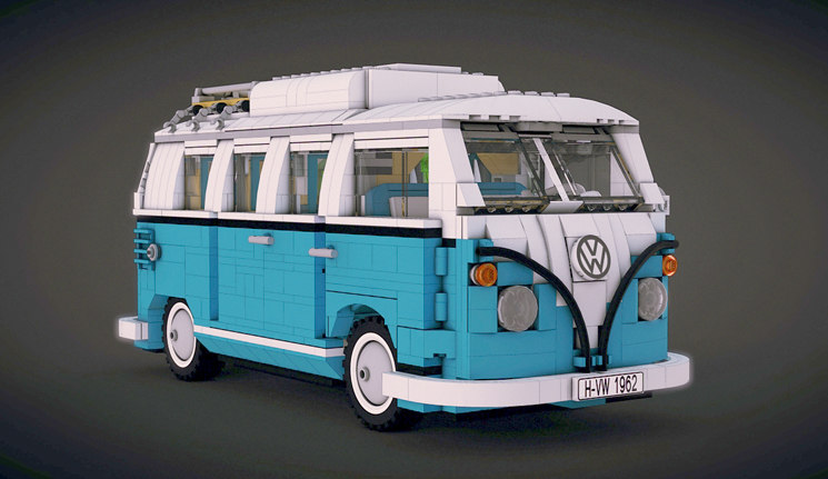 3d t1 camper van lego model. Black Bedroom Furniture Sets. Home Design Ideas