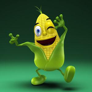 3d max cartoon maize