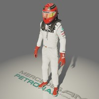 formula driver michael schumacher 3d model
