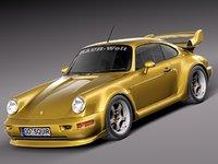 3d porsche 911 964 1990