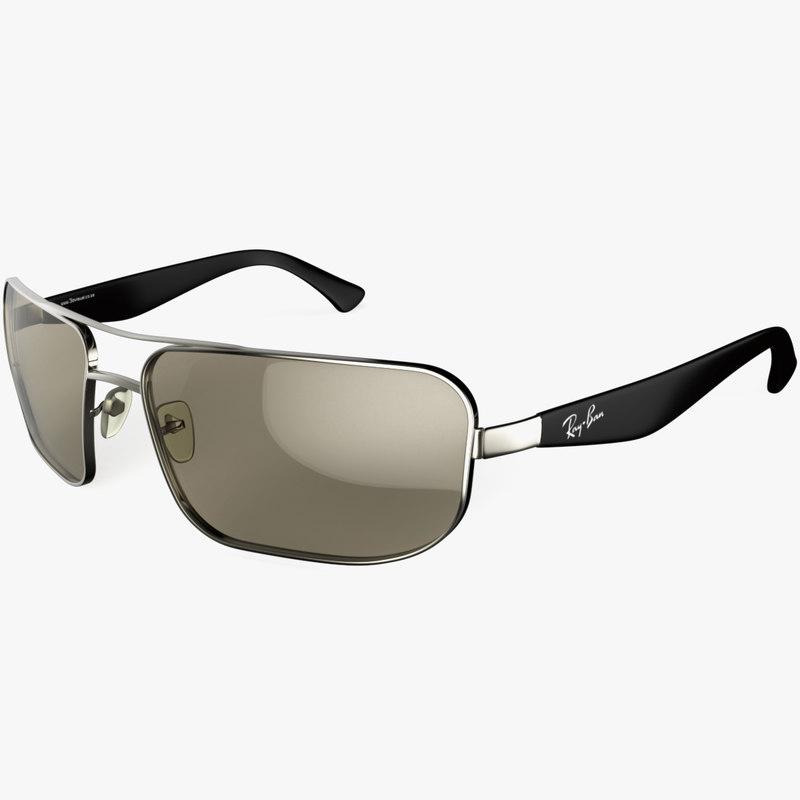 rayban sunglasses 3d obj
