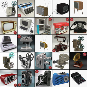 3d retro electronics 8 model