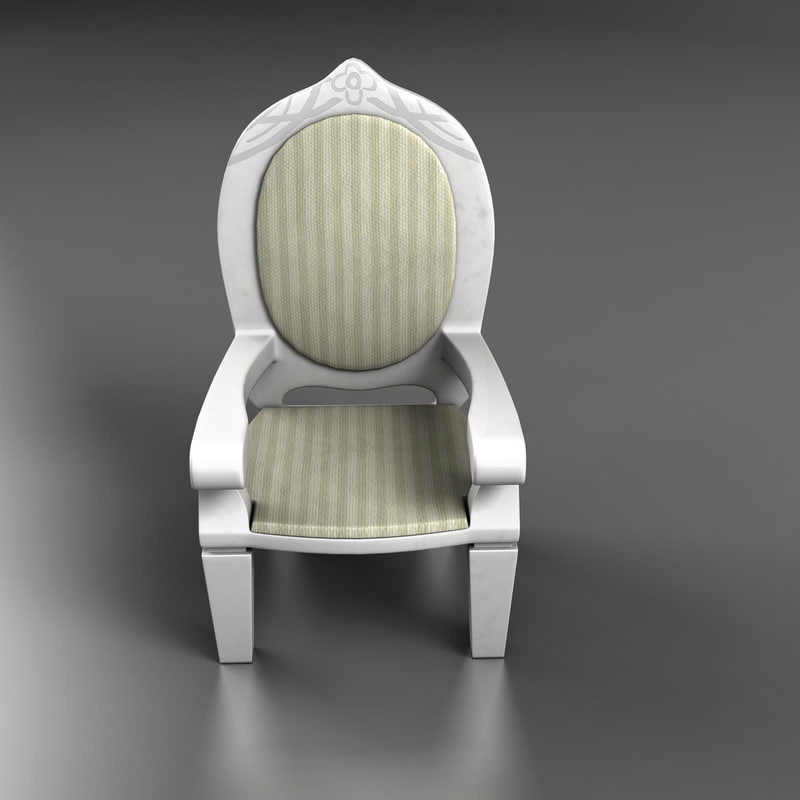 3d model doll chair