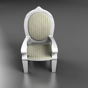 3d model doll chair