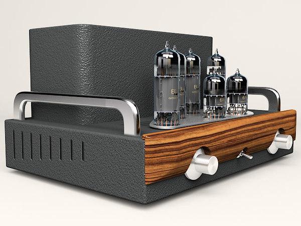 3d model hi-fi tube amplifier 2