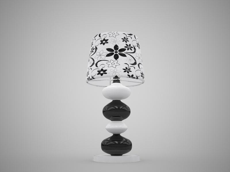 free table lamp jysk 3d model