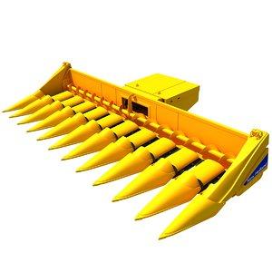 combine threshing machine