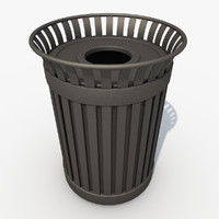 street trash container 3d model