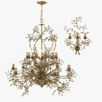 Mechini L202 A 522 Chandelier & Wall Lamp Set