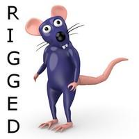 cartoon rat - rigged