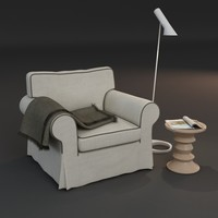 armchair stool magazine 3d model