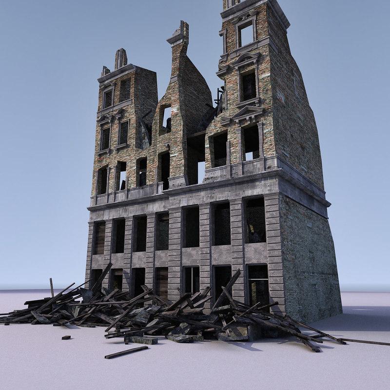 building ww2 3d model