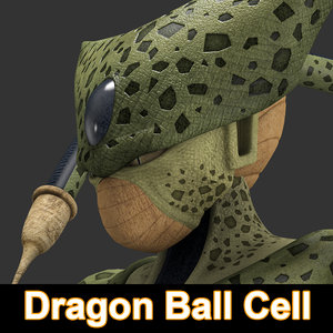 3d max dragon ball cell