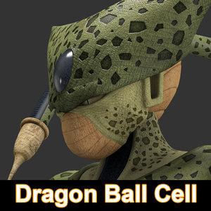 3d max dragon ball cell